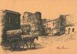 Torre di Portixedda. Disegno di Mauro Ferreri