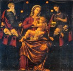 Retablo della Madonna dei Consiglieri. Attualmente il Retablo è custodito nella sala retabli dell'Antiquarium Arborense.