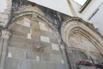Chiesa e convento di San Francesco. Prospetto in stile gotico della chiesa.