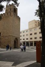 Progetto tracciato antiche mura medievali - in prossimità della torre di San Cristoforo o Porta Ponti.